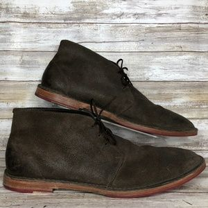 Cole Haan Paul 13M Brown Distressed Chukka Boot